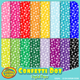 digital paper with confetti dot pattern