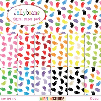 digital paper with jellybean pattern for kids, printable .