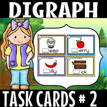 digraph task cards set 2 (50% off for 2 weeks)