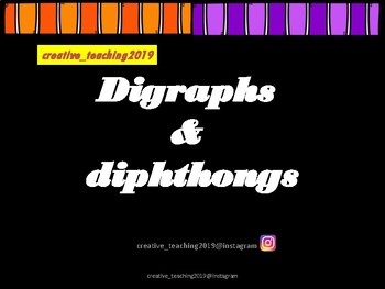 digraphs and diphthongs card game