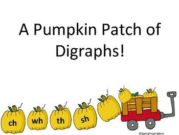 Pumpkin Patch Digraphs (sh, wh, th, ch) Board Game