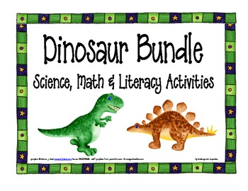 dinosaur bundle: math, science and literacy activities