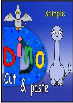 dinosaur cut and paste