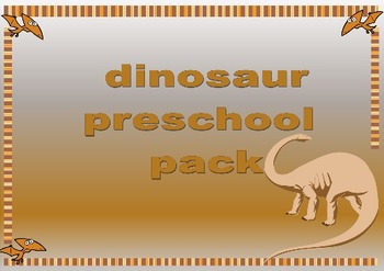 dinosaur topic themed preschool/ prek teaching pack