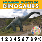 Number Strip Puzzles for Dinosaurs   Number Order Sequenci