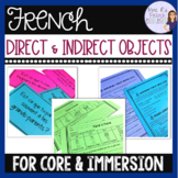 French direct and indirect objects - activities, lessons,