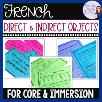 French direct and indirect objects - activities, lessons, and resources
