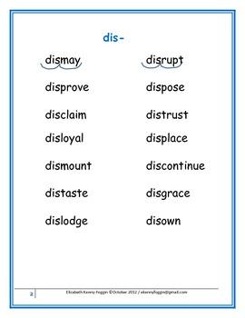 """A Multisensory Approach - Prefix - """"dis-."""""""