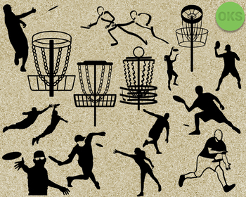 disc golf, frisbee SVG cut files, DXF, vector EPS cutting file