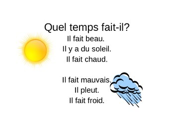 discovering french unit 2 lesson 4 Quel temps fait-il?
