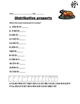 disrtibutive property
