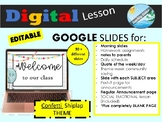 distance learning - GOOGLE SLIDES - EDITABLE morning meeti