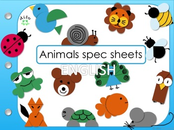 dito animals spec sheets and templates