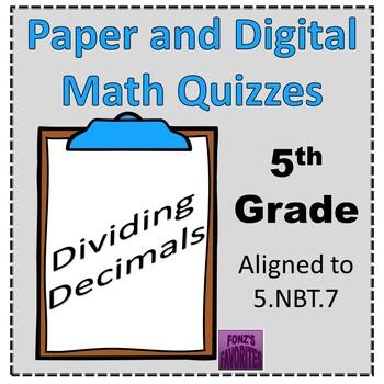 dividing decimals exit slips