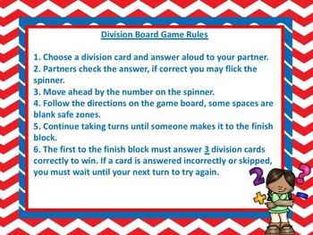 division board game math center