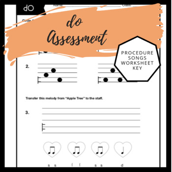 do Worksheet | Music Assessment & Song