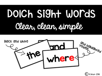dolch sight words: word wall cards COMPLETE PACK