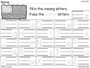 dollar deal: alphabet 2 part matching puzzles_patriotic theme