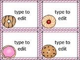 dollar deal: editable task cards_cookies cupcakes donuts theme