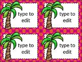 dollar deal: editable task cards_chicka chicka boom boom theme