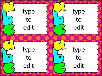dollar deal: editable task cards_chicka chicka boom boom theme
