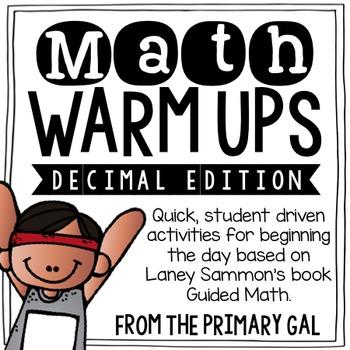 Decimal Math Warm Ups