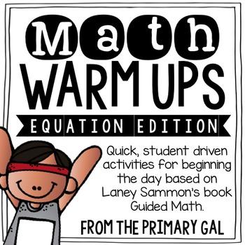 Equations Math Warm Ups