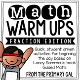 Fraction Math Warm Ups