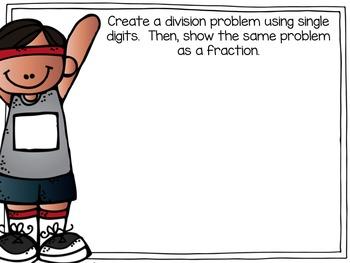 Fraction Math Warm Ups
