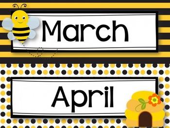 Calendar {Bee Themed}