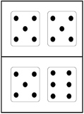 dominoes, dice, and tens frames for subitizing practice