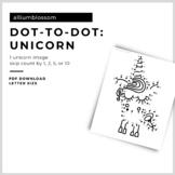 dot-to-dot unicorn: skip count by 1, 2, 5 & 10