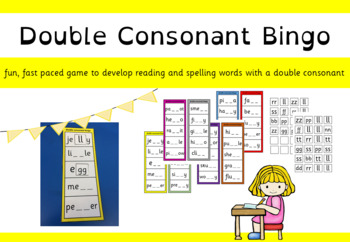 double consonant bingo game