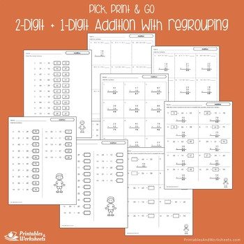 Adding Double Digits Without Regrouping Worksheets