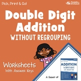 Adding Double Digits Without Regrouping Worksheets, Addition Morning Work Pages