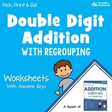 Adding Double Digits With Regrouping, 2nd Grade Addition Worksheet For Practice