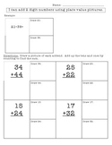 double digit addition using pictures