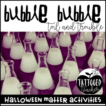 double double, toil and trouble! A Halloween Matter activity pack!