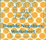 double negatives worksheet