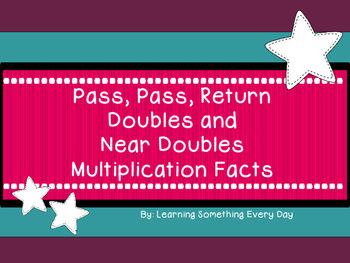 Free! Multiplication Facts Game - Pass, Pass, Return