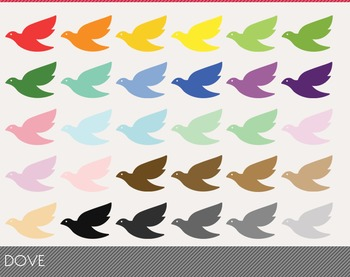 dove Digital Clipart, dove Graphics, dove PNG, Rainbow dove Digital Files
