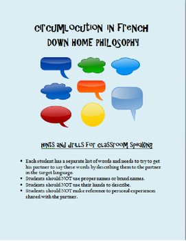 down home philosophy for Circumlocution FRENCH