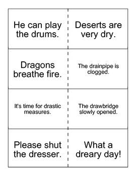 /dr/ sentence flashcards