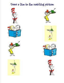 dr seuss picture matching