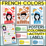 FRENCH COLORS DECOR SET | POSTERS - COLORING ACTIVITY - WO