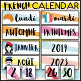 FRENCH CALENDAR SET - DAYS MONTHS SEASONS - WORD WALL - PR