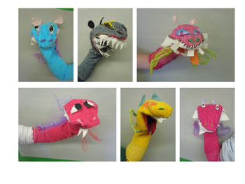 Dragon Sock Puppets ⎮ A Unit for Middle School