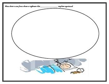 dream or nightmare drawing assessment worksheet
