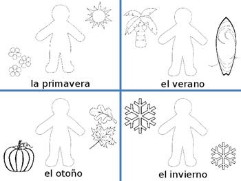 dressing for weather and seasons spanish estaciones tiempo