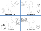 dressing for weather and seasons spanish estaciones tiempo